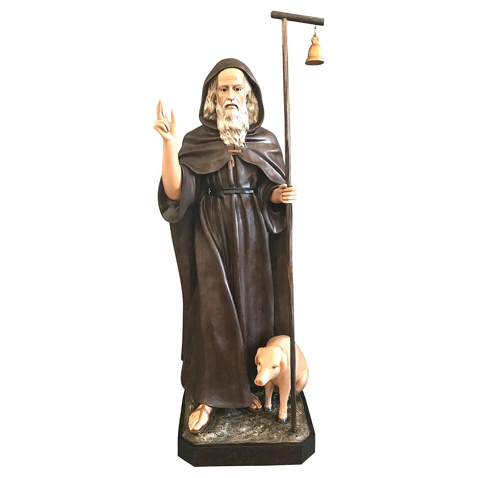Statua Sant'Antonio Abate 160 cm vetroresina colorata 4