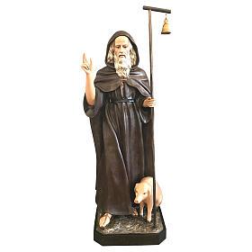 Statua Sant'Antonio Abate 160 cm vetroresina colorata s1