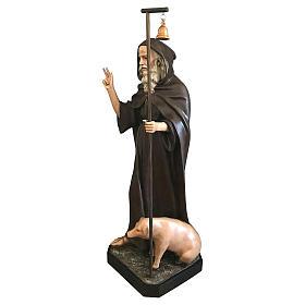 Statua Sant'Antonio Abate 160 cm vetroresina colorata s3