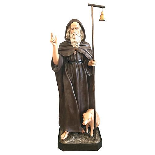 Statua Sant'Antonio Abate 160 cm vetroresina colorata 1