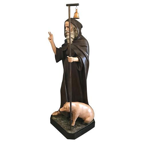 Statua Sant'Antonio Abate 160 cm vetroresina colorata 3