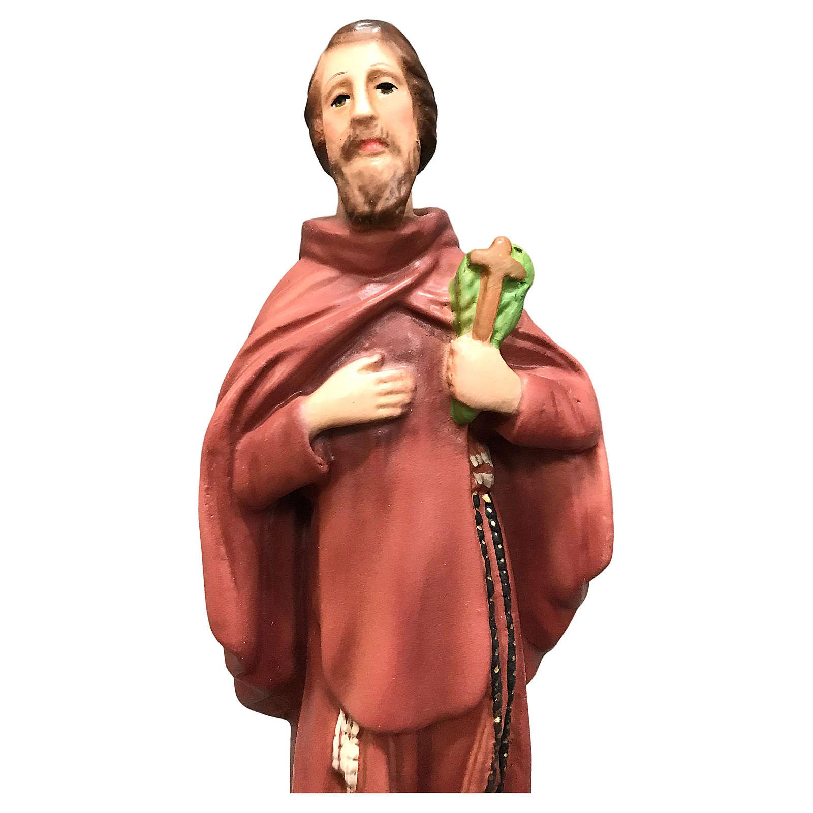 Statua San Ciro 20 cm resina colorata 4
