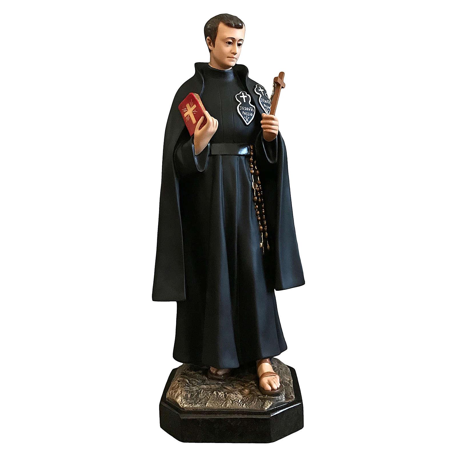 Statua San Gabriele 80 cm vetroresina colorata occhi vetro 4