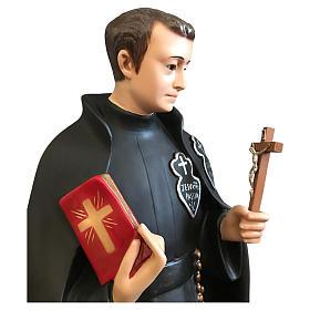 Statua San Gabriele 80 cm vetroresina colorata occhi vetro s2