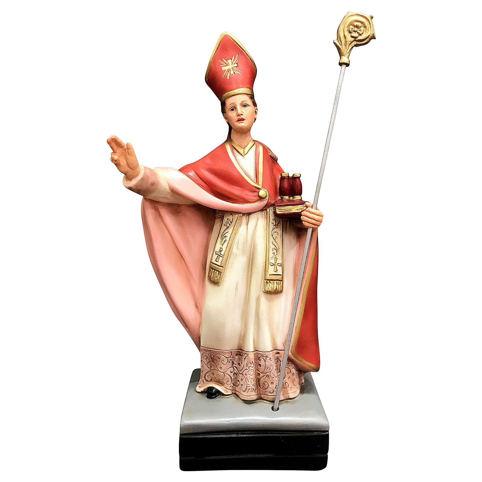 Statua San Gennaro resina 40 cm colorata 4