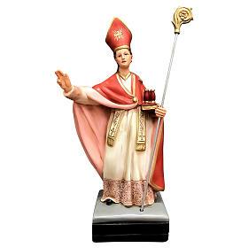 Statua San Gennaro resina 40 cm colorata s1