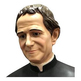 Estatua San Juan Bosco con Domingo Savio 170 cm fibra de vidrio s3