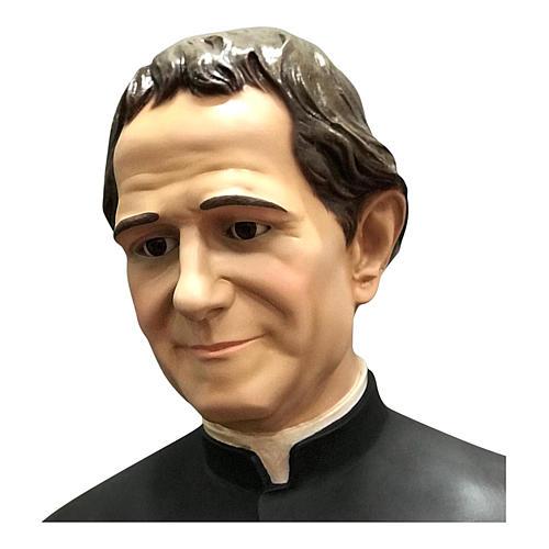 Estatua San Juan Bosco con Domingo Savio 170 cm fibra de vidrio 3