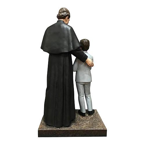 San Giovani Bosco con Domenico Savio 170 cm vetroresina occhi vetro 5