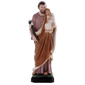 Estatua San José 50 cm fibra de vidrio coloreada s4