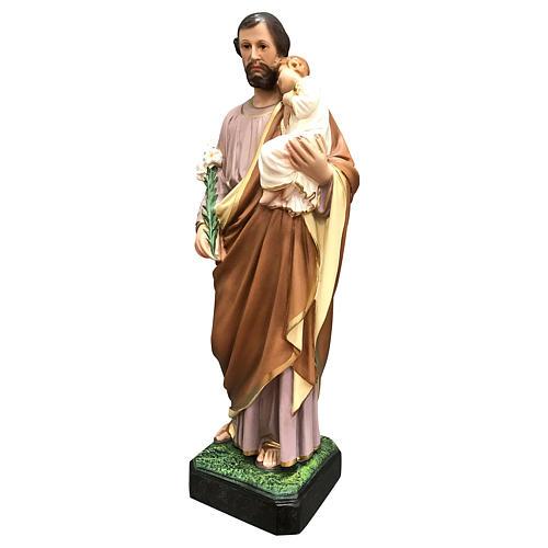 Estatua San José 50 cm fibra de vidrio coloreada 3