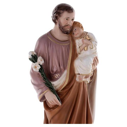 Estatua San José 50 cm fibra de vidrio coloreada 5
