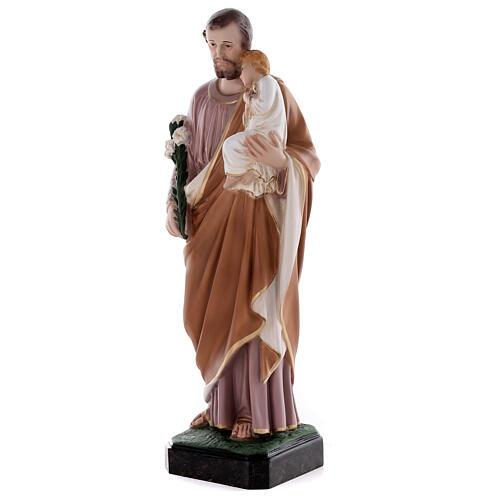 Estatua San José 50 cm fibra de vidrio coloreada 6