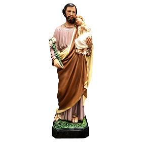 Statua San Giuseppe 50 cm vetroresina colorata s1