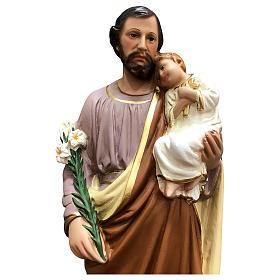 Statua San Giuseppe 50 cm vetroresina colorata s2