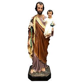 Statua San Giuseppe 85 cm vetroresina colorata PER ESTERNO s1