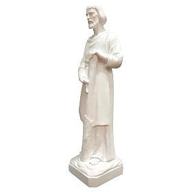 Estatua San José trabajador fibra de vidrio blanca 80 cm PARA EXTERIOR s3