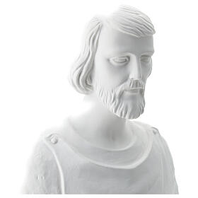 Statua san Giuseppe lavoratore vetroresina bianco 80 cm PER ESTERNO