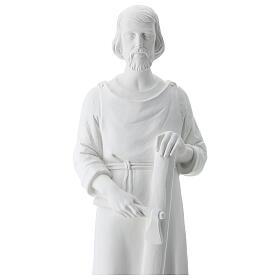 Statua san Giuseppe lavoratore vetroresina bianco 80 cm PER ESTERNO s3