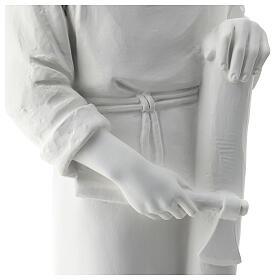 Statua san Giuseppe lavoratore vetroresina bianco 80 cm PER ESTERNO s5