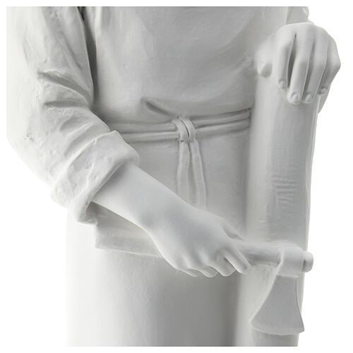 Statua san Giuseppe lavoratore vetroresina bianco 80 cm PER ESTERNO 5