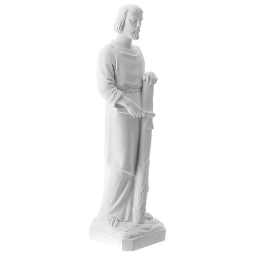Statua san Giuseppe lavoratore vetroresina bianco 80 cm PER ESTERNO 6