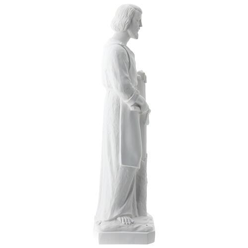 Statua san Giuseppe lavoratore vetroresina bianco 80 cm PER ESTERNO 7