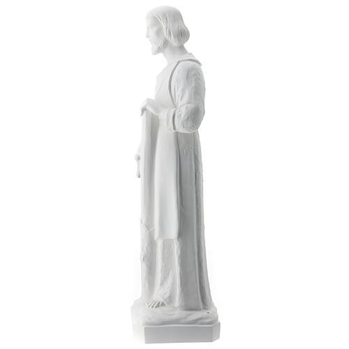 Statua san Giuseppe lavoratore vetroresina bianco 80 cm PER ESTERNO 8