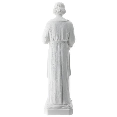 Statua san Giuseppe lavoratore vetroresina bianco 80 cm PER ESTERNO 9