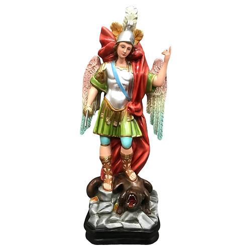 Statua San Michele con spada resina 45 cm colorata 1
