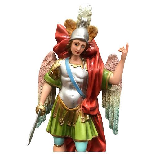 Statua San Michele con spada resina 45 cm colorata 2