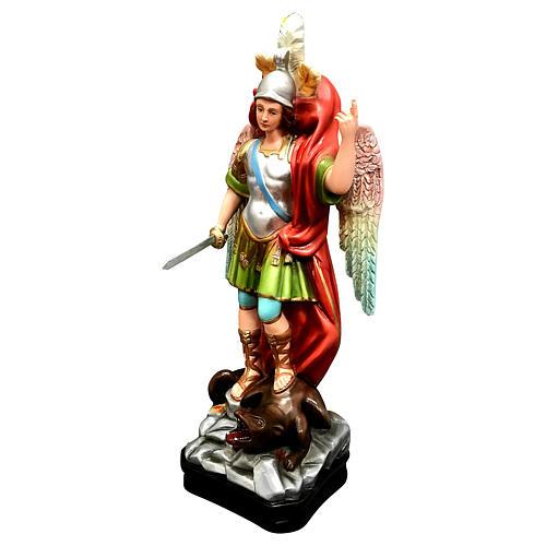 Statua San Michele con spada resina 45 cm colorata 3
