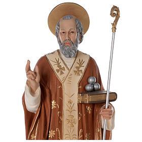Statua San Nicola di Bari 85 cm vetroresina colorata s2
