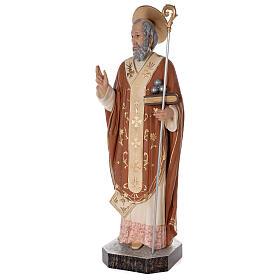 Statua San Nicola di Bari 85 cm vetroresina colorata s3