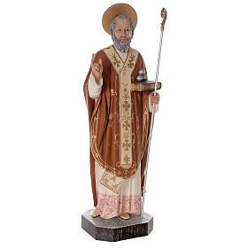 Statua San Nicola di Bari 85 cm vetroresina colorata s5