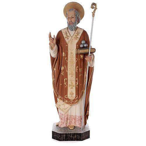 Statua San Nicola di Bari 85 cm vetroresina colorata 1