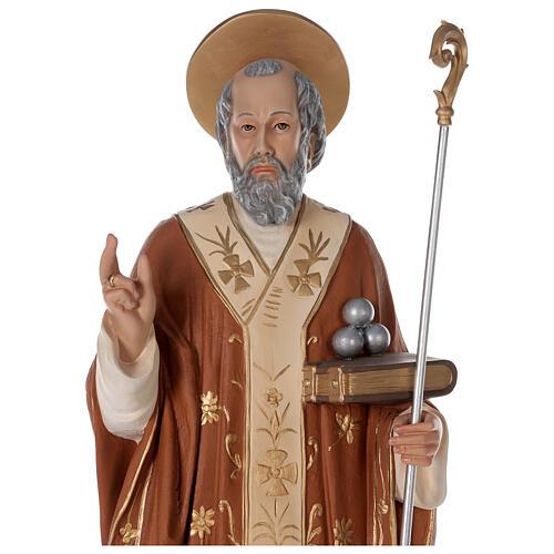Statua San Nicola di Bari 85 cm vetroresina colorata 2