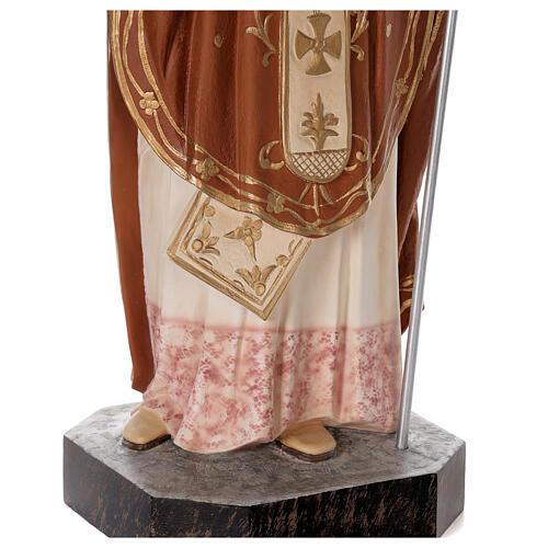 Statua San Nicola di Bari 85 cm vetroresina colorata 4