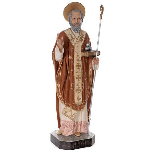 Statua San Nicola di Bari 85 cm vetroresina colorata 5