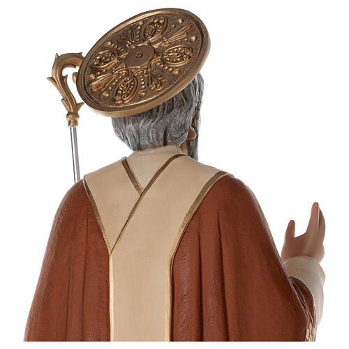 Statua San Nicola di Bari 85 cm vetroresina colorata 6