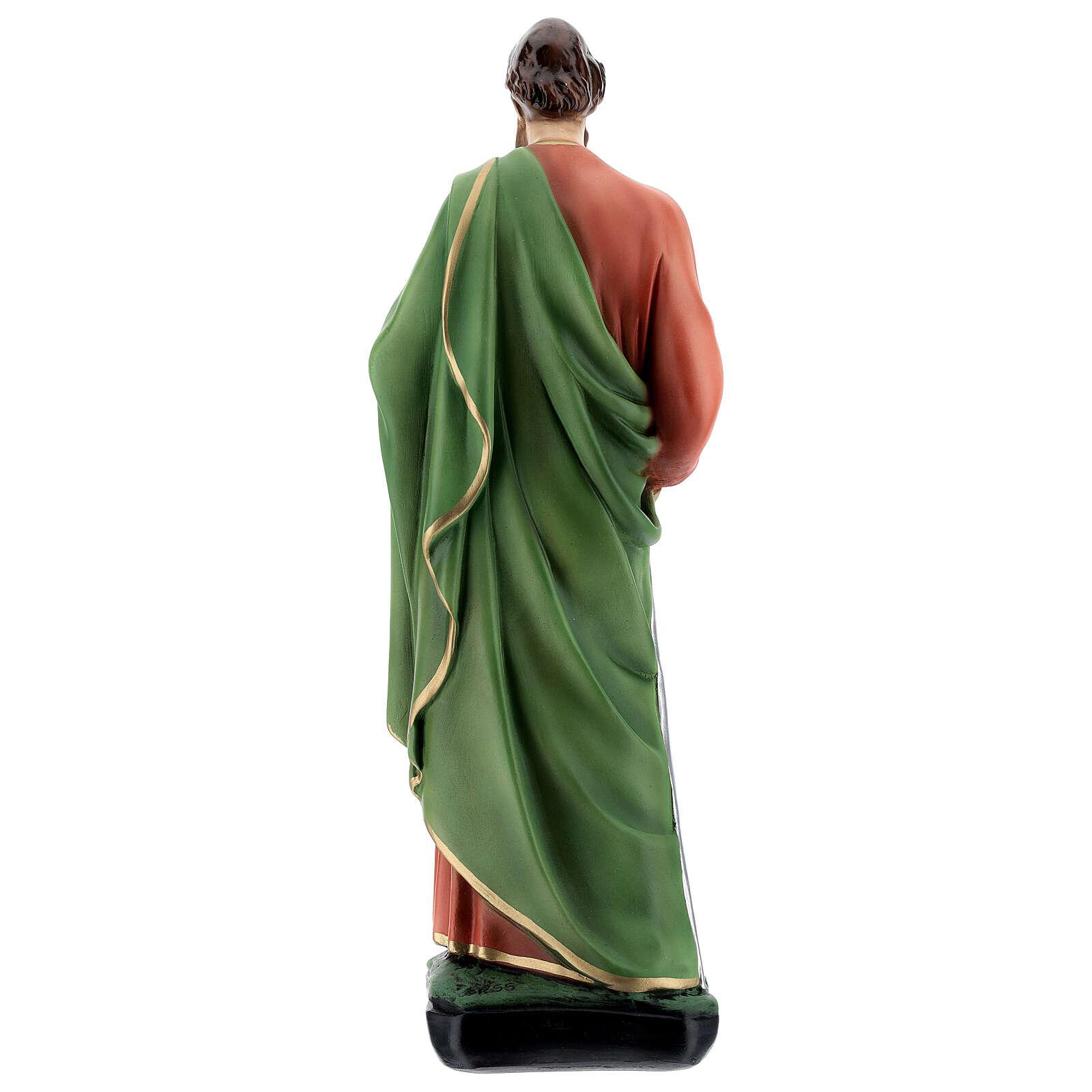 Statue, Heiliger Paulus, 40 cm, Kunstharz, farbig gefasst 4