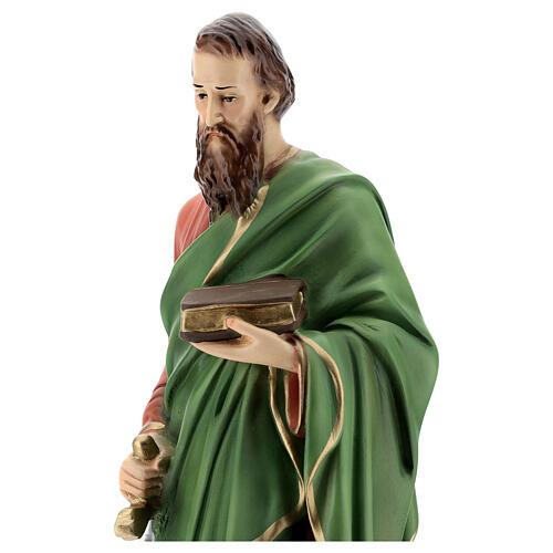 Statue, Heiliger Paulus, 40 cm, Kunstharz, farbig gefasst 2