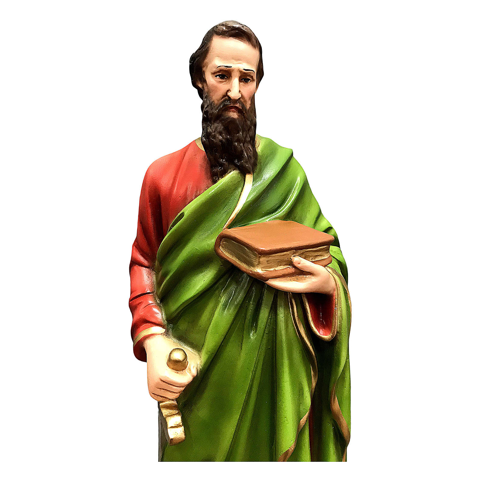 Estatua San Pablo 40 cm resina coloreada 4