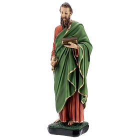 St Paul statue, 40 cm colored resin s3