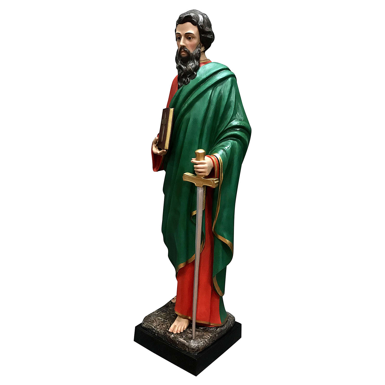 Statua San Paolo vetroresina 160 cm colorata 4