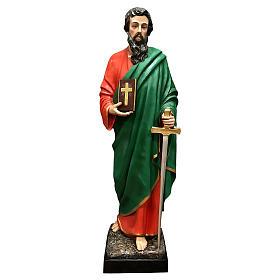 Statua San Paolo vetroresina 160 cm colorata s1