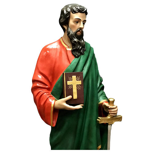 Statua San Paolo vetroresina 160 cm colorata 2