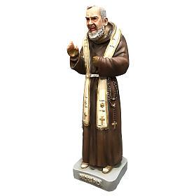 Statua San Pio con stola 26 cm resina colorata s3
