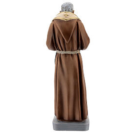 Saint Padre Pio statue with stole, 26 cm colored resin s4