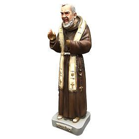 Statue Saint Pio 26 cm résine colorée s3